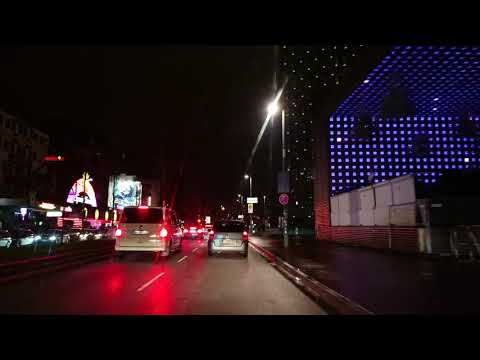 night driving 1h before New Year's Eve 2019 Hamburg