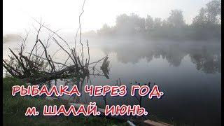 РЫБАЛКА ЧЕРЕЗ ГОД.  м.  ШАЛАЙ.  ИЮНЬ.