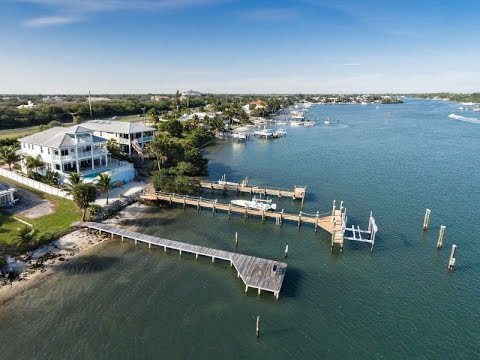 Gated Waterfront Home in Tequesta, Florida