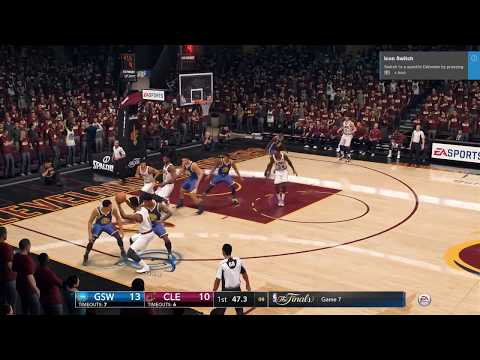 NBA Live 18 DEMO: Cavs Vs. Warriors Gameplay (1st Quarter)