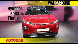 Hyundai Kona Electric SUV | Walkaround | Geneva Motor Show 2018 | Autocar India