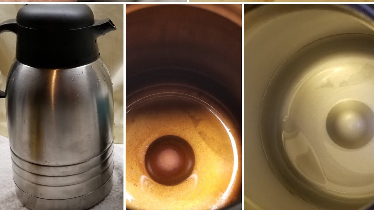 Easy Diy How To Clean Tea Coffee Stains Off Stainless Steel Carafe Travel Mugs
