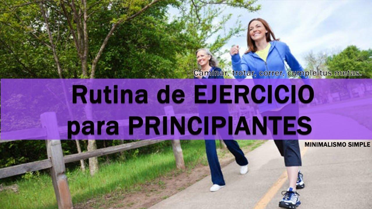 rutina de ejercicios para bajar de peso corriendo para principiantes