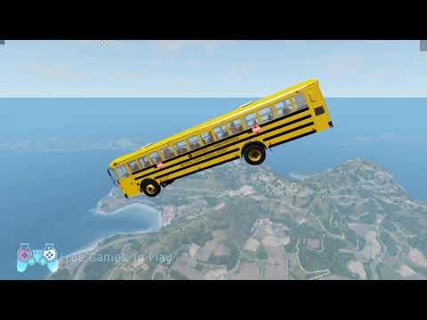 Download Mobil Bus Truck Loncat Turun Dari Langit | Jatuh Kejurang Dari Langit | Request Dari Subscribeer