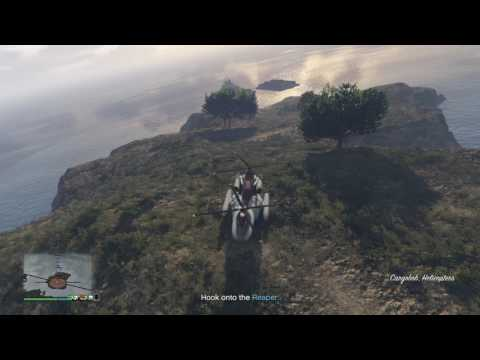 GTA 5 - Import/Export - Offshore east coast, outrunning Buzzards, no damage
