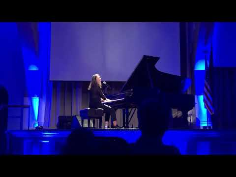 "Sara Bareilles performs ""Armor"" at the NYC Swing Left Rally"