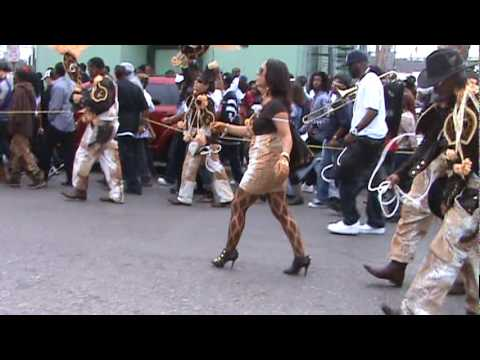 Treme Sidewalk Steppers 2010 Second Line - on St. Bernard