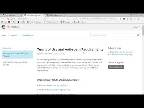 Mailchimp Help: How to add a first name to your Mailchimp Campaign from YouTube · Duration:  2 minutes 10 seconds