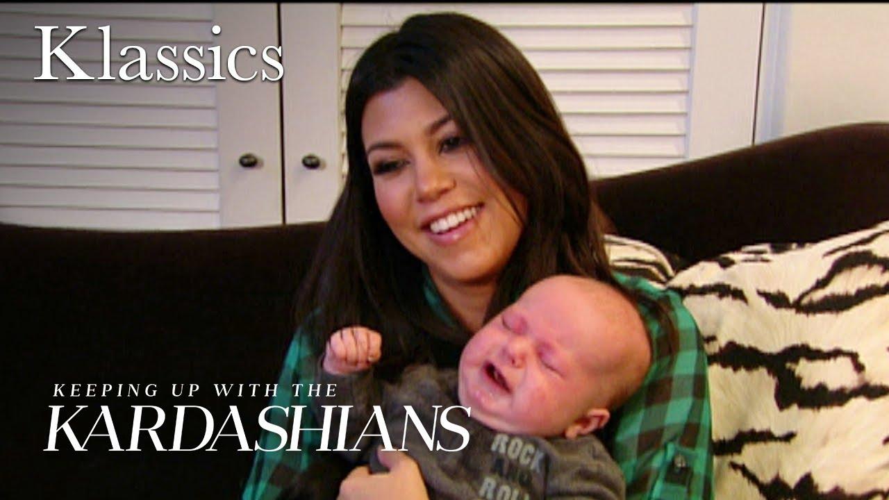 Kourtney Kardashian & Scott Disick Baby Training