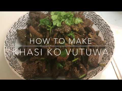 Khasi ko Bhutan recipe || nepali food