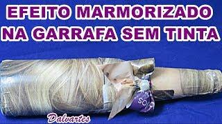 EFEITO MARMORIZADO EM GARRAFA SEM USO DE TINTA