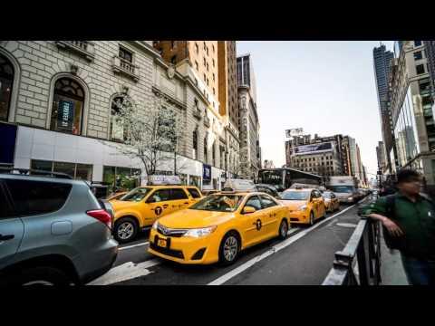 4k New York City Time Lapse Yule Log Screen Saver (Midtown Manhattan) (30 Min)
