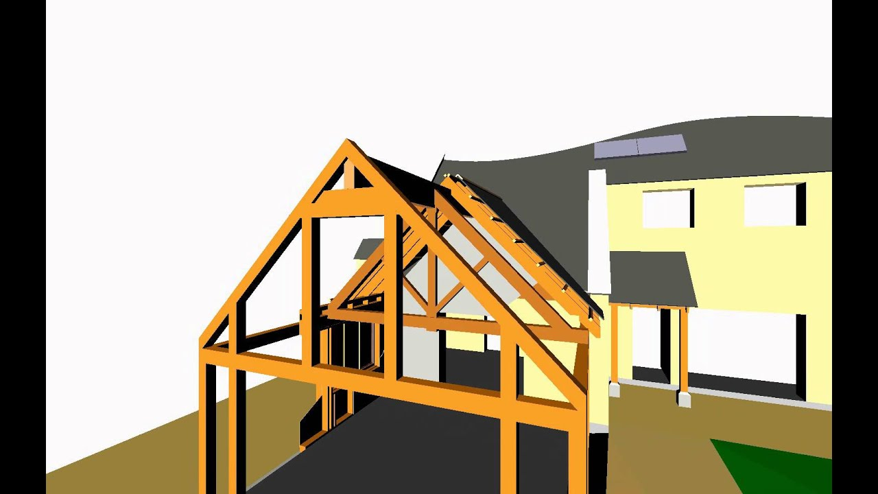 3D Timber Frame Extension - YouTube