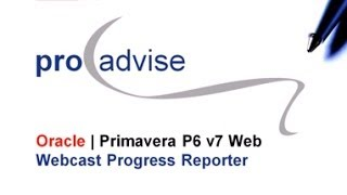 Oracle Primavera  P6EPPM Progress Reporter