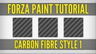 FORZA PAINT TUTORIALS | Carbon Fibre Style 1