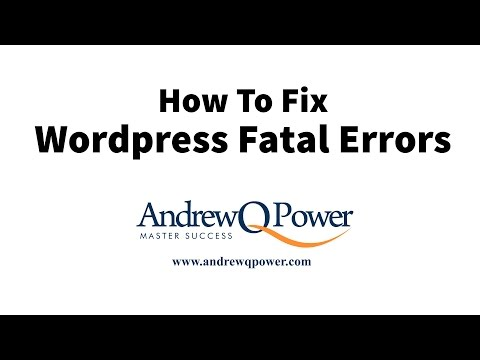 How To Fix WordPress Fatal Error