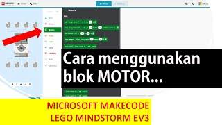 Lego Makecode Microsoft : MOTOR