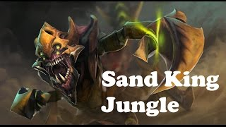 jungle sand king guide dota 2 dagger min 7