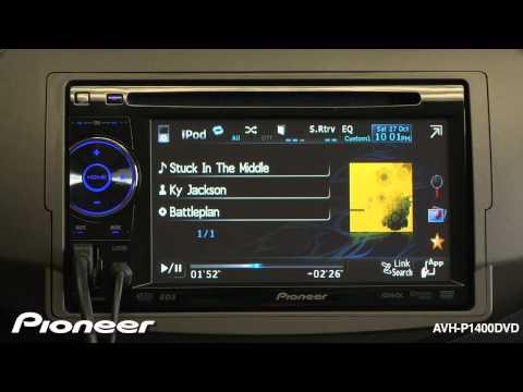 pioneer avh p1400dvd 5 8 dvd usb car stereo receiver w. Black Bedroom Furniture Sets. Home Design Ideas