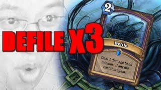TRIPLE DEFILE ARENA! | The Boomsday Project | Hearthstone Arena