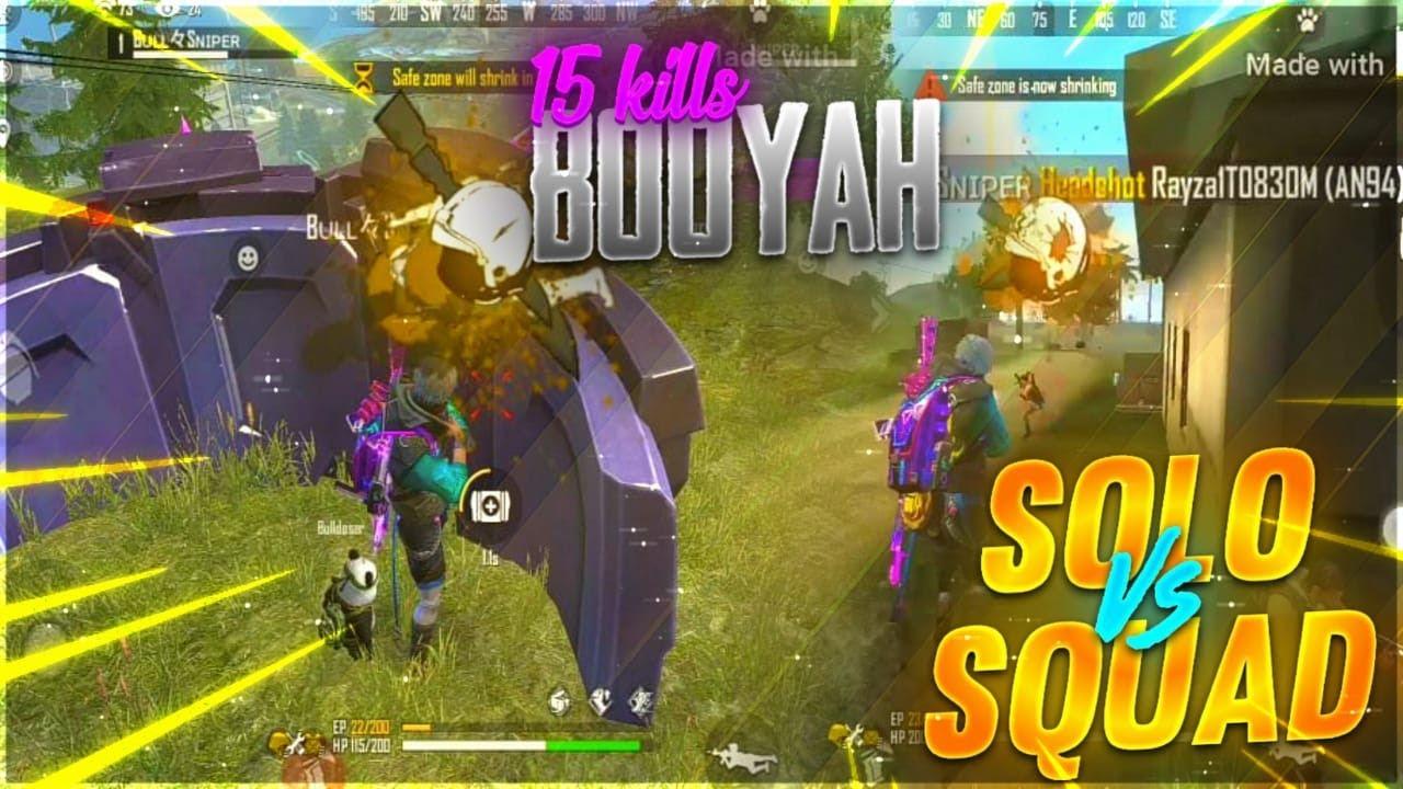 SOLO VS SQUAD TOP GLOBAL PLAYER // 15+KILLS //BOYAAH //BULL SNIPER