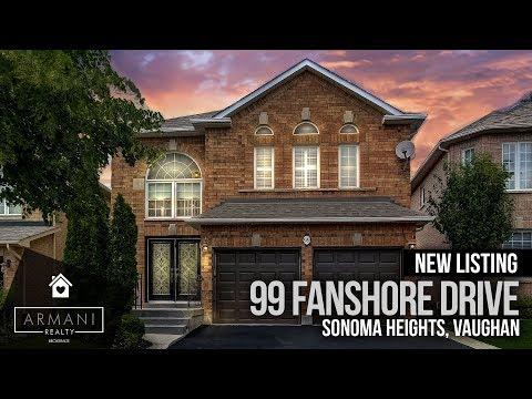 SOLD! 99 Fanshore Drive In Woodbridge, Vaughan (Toronto, Ontario, Canada)