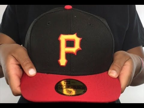 Pirates  2007-08 LOW-CROWN VINTAGE  Black-Red Fitted Hat by New Era ... c05ef16f6470