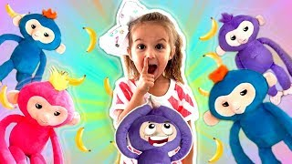 Five Little Monkeys Jumping On The Bed ~ Children Nursery Rhyme Songs | Elya & Adelya Kids Show
