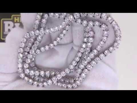 Never Tarnish 1 Row Lab Made Diamond Tennis Chain | Bling Bling Jewelry