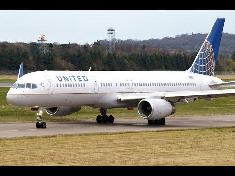 United Boeing 757-200 N48127 Impressive Rolling Take off Runway 06 at Edinburgh Airport!