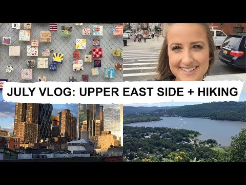 UPPER EAST SIDE SHOPPING + HIKING THE HUDSON VALLEY   JULY VLOG