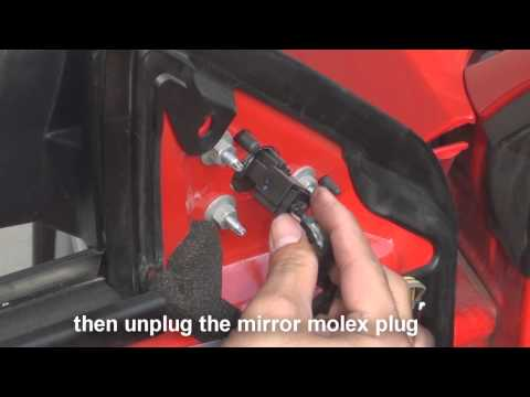 remove side mirror ford mustang 2010 -2014