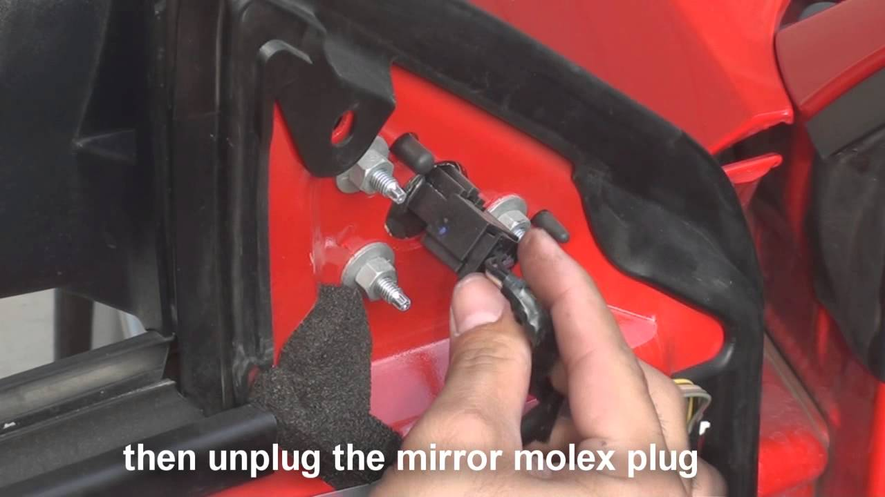 remove side mirror ford mustang   youtube