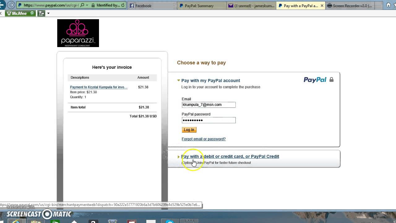 how to pay invoice without a paypal account youtube