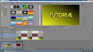 Tutorials l, Wie zu erstellen (look-a-like) - 3D-text in Sony Vegas (Ohne Plugins)