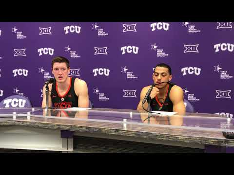 Oklahoma State's Mitchell Solomon and Kendall Smith after TCU loss
