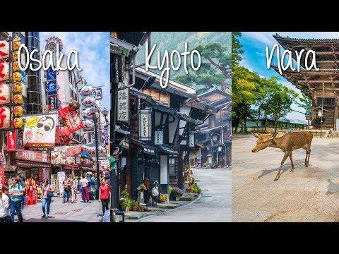 Holiday Tour in Osaka, Kyoto, Nara - Montage - Japan Vlog