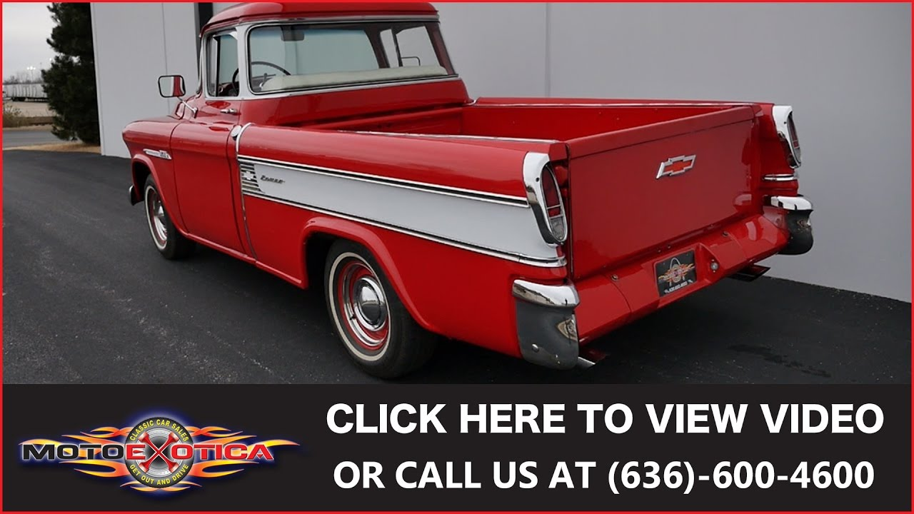 1955 chevrolet truck 3200 standard cab pickup 2 door 3 8l - 1955 Chevrolet Cameo Sold