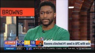 GMFB | Nate Burleson react to Week 16: Patriots def. Bills - Ravens def. Browns