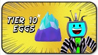 Opening 12 Tier 10 Pet Eggs Epic Pets - Roblox Pet Simulator