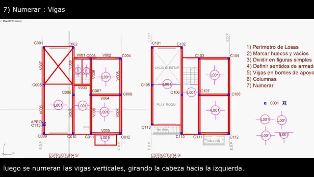 como dise ar la estructura de una vivienda en hormig n
