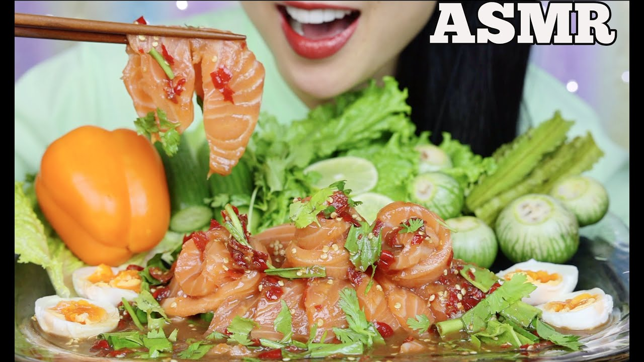 Asmr Spicy Salmon Sashimi Salad Fresh Veggies Crunchy Eating Sounds Minimal Talking Sas Asmr Youtube U have to like my videos comment and follow for a chance to win.good luck🤪. asmr spicy salmon sashimi salad fresh veggies crunchy eating sounds minimal talking sas asmr