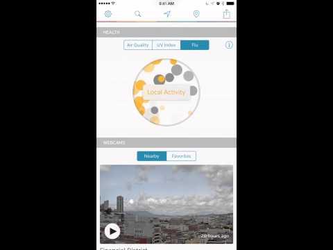 Weather Underground iPhone app demo video
