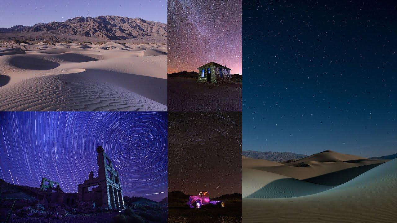lugares del mundo para ver las estrellas Parque Nacional del Valle de la Muerte, Estados Unidos de noche