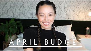 April Budget | Saving For My Debt Free Scream! | Aja Dang