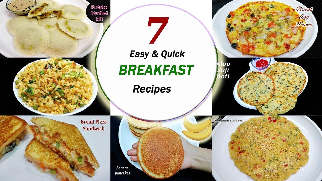 7 Breakfast recipes  (7 days / week) || 7 amazing & easy breakfast recipes