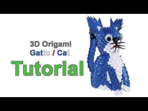 Origami 3d Cat Tutorial 1/32 Origami 3d Gatto Tutorial