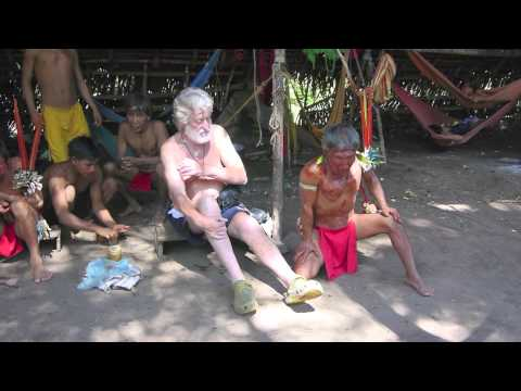 YOPO CEREMONY WITH YANOMAMI SHAMANS  AND  REINHARD SCHOENL