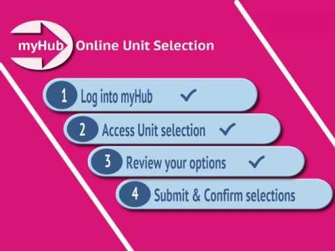 Online unit selection