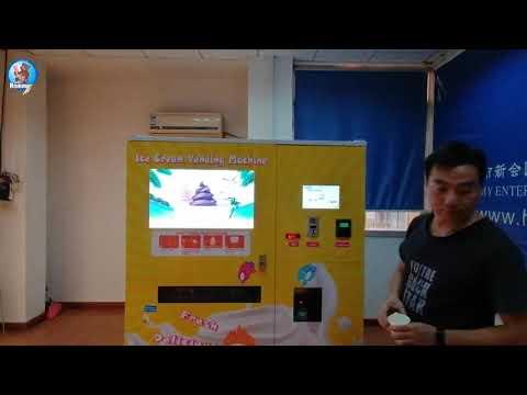 HM766 vending ice cream machine inside the function